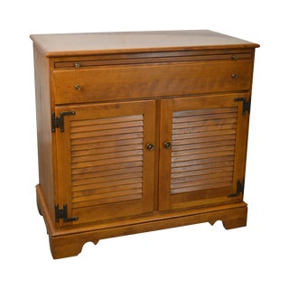 Ethan Allen American Traditional Solid Maple Louvered Door Server