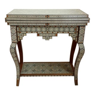 Syrian Camel Bone Inlaid Game Table