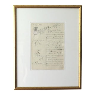 Antique French Groceries Tradesman Document