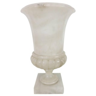 Art Deco Carved Marble Campana Urn Lamp
