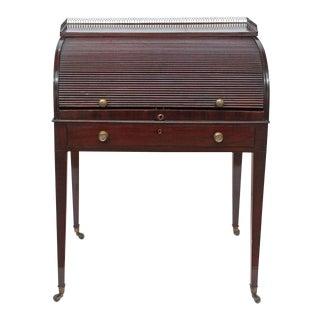 A George III Mahogany Tambour Desk