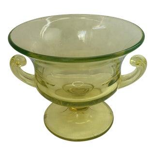 Vintage Uranium Glass Goblet