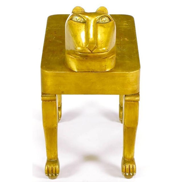 Image of Carved and Giltwood Jaguar Table by Diseno Caaesa