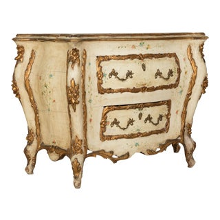 Antique Painted Bombe Chest