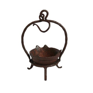 Antique Iron Candle Stand