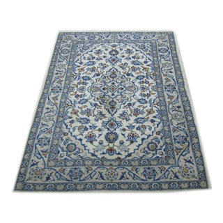 Handmade Persian Kashan Rug - 3′5″ × 5′