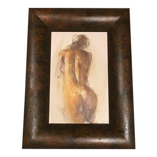 Framed Modern Female Nude Painting