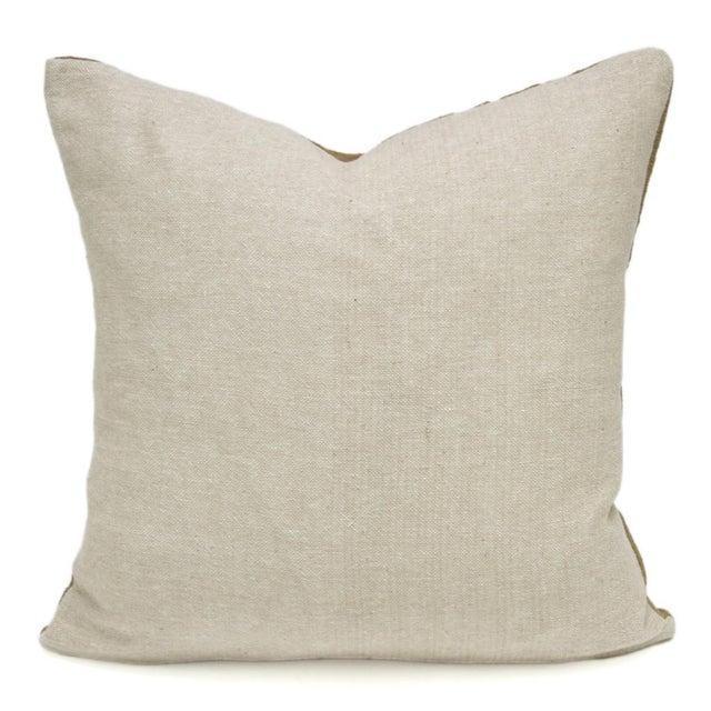 Vintage Suzani Saffron Pillow - Image 2 of 2
