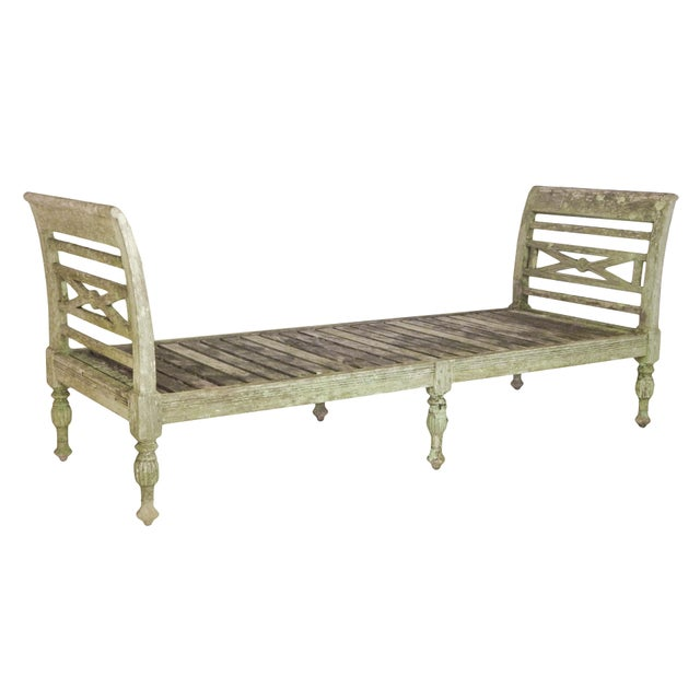 Incredible Weathered Teak Daybed Bench Decaso