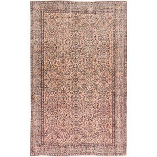 Neutral Wool Turkish Rug - 5′7″ × 8′10″