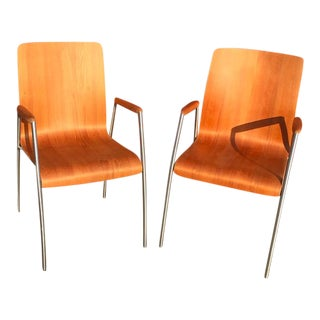 Circa 1985 Bentwood Chairs - A Pair