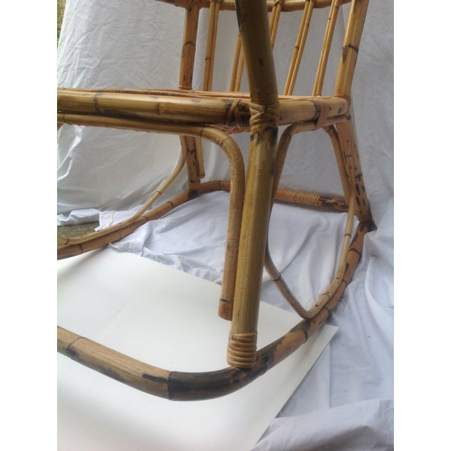 Mid-Century Ficks and Reed Style Bamboo Rocking Chair - Image 6 of 8