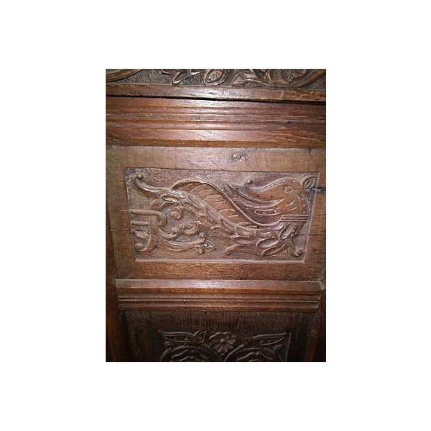 17th-Century Welsh Carved Oak Cupboard - Image 6 of 6