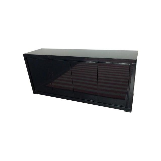 Large Indigo Lacquered Cabinet Credenza - Image 1 of 10