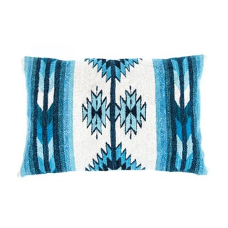 Blue Oaxaca Wool Pillow