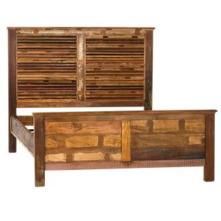 Reclaimed Wood with Shutter Framed Headboard Cal King