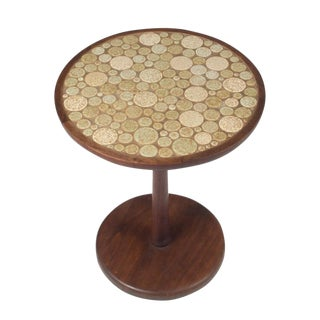 Gordon Martz Oatmeal Tile Top Pedestal Table