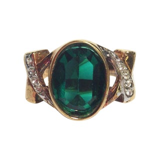 Lind Gold & Green Ring
