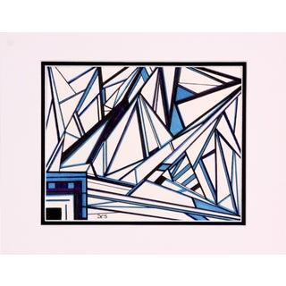 Dorothy Schiller Electric Blue Marker Drawing