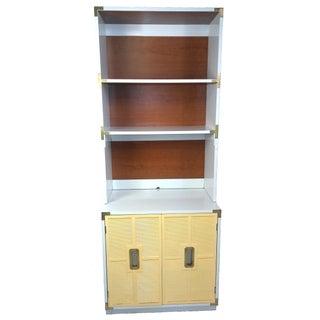 Dixie Lacquered Campaign Dresser/Hutch/Bookshelf