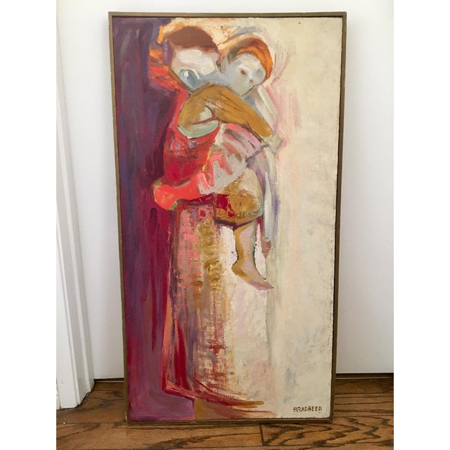 Framed Mother and Child Abstract Painting by Bradbeer - Image 2 of 6