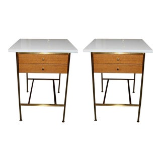Paul McCobb for Calvin Group Two Drawer Nightstands - a Pair