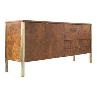 Tomlinson Burlwood & Brass Detail Credenza or Sideboard