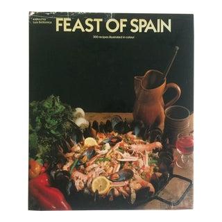 """ Feast of Spain 300 Recipes "" Vintage 1982 Hardcover Regional Spanish Cookbook"