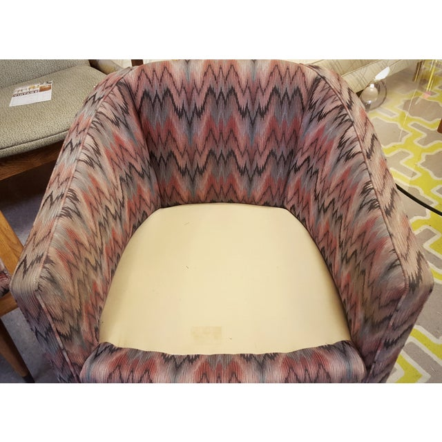 Image of Vintage Post Modern Swivel Club Chair