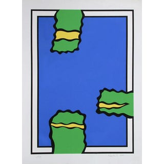 "1978 Nicholas Krushenick ""Untitled (Three Green)"" Print"