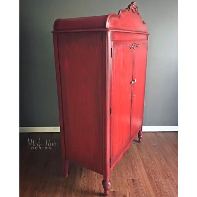 French Country Red Armoire | Chairish