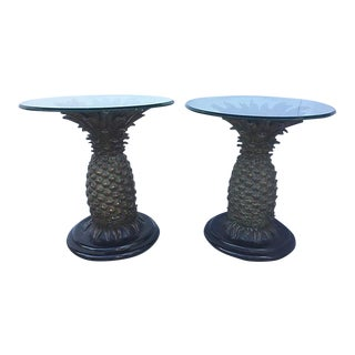Maitland Smith Pineapple Side Tables - A Pair