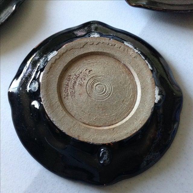 Modern Rustic Studio Pottery Plates - Set of 4 - Image 4 of 4