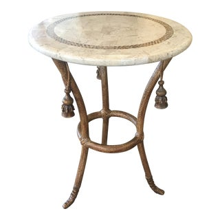 Maitland Smith Tessellated Stone End Table