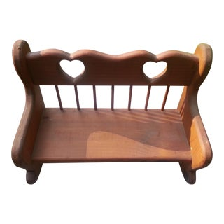Hand Crafted Wooden Decorative Bench Decor