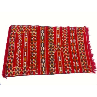 "Moroccan Berber Tribal Kilim Rug - 3' 3"" x 5' 5"""