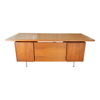 Jens Risom Danish Modern Walnut Executive Desk