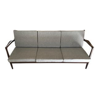 Ib Kofod Larsen for Selig Gray Sofa
