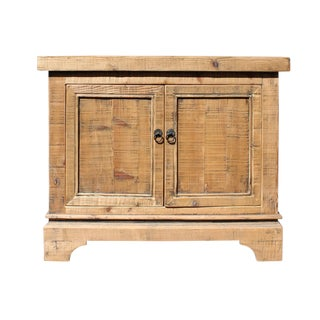 Rustic Wood Console Cabinet