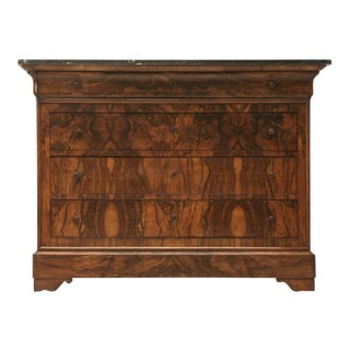 c.1880 French Book-Matched Burled Walnut Commode