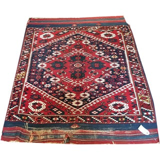 "Antique Turkish Bergama Rug - 3'5"" x 4'3"""