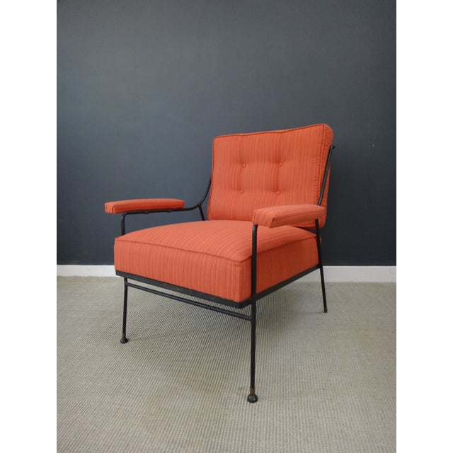 Mid Century Upholstered Chair and Ottoman - Image 3 of 6