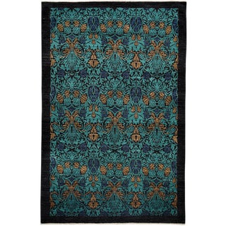 """Arts & Crafts, Hand Knotted Area Rug - 6' X 9'1"""""""
