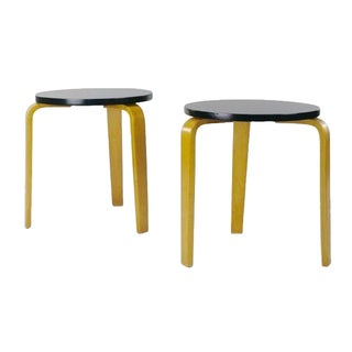 Alvar Aalto Style Stacking Stools - A Pair