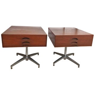 Jens Risom Side Tables W/ Drawer