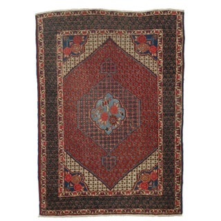 RugsinDallas Hand-Knotted Persian Baktiari Rug - 4′1″ × 5′8″