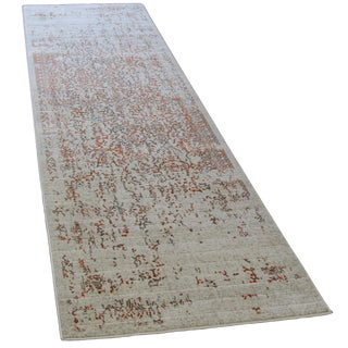 Distressed Turkish Gray Orange 10 feet Runner