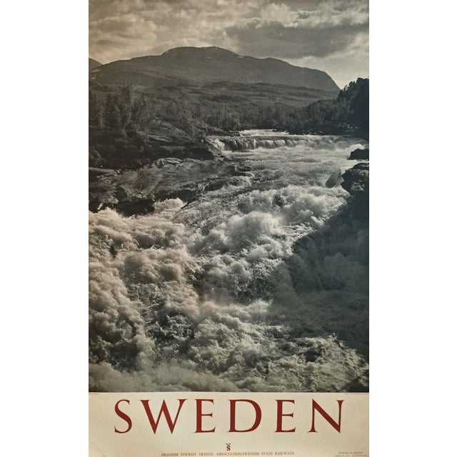 1950 Vintage Sweden Travel Poster - Image 1 of 5