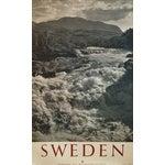 Image of 1950 Vintage Sweden Travel Poster