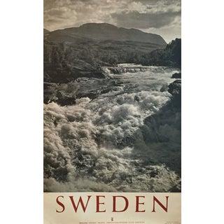 1950 Vintage Sweden Travel Poster